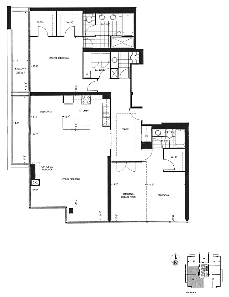 18 Yorkville Ave Toronto Floor Plans Penthouse Condos 3 Bedrooms 1872 Sq Ft Plus Balconies St. George Layout
